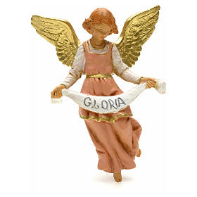 Anioł Gloria różowy Fontanini 12 cm s1