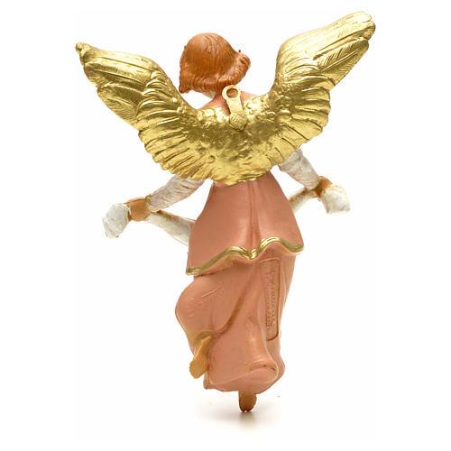 Anioł Gloria różowy Fontanini 12 cm 2