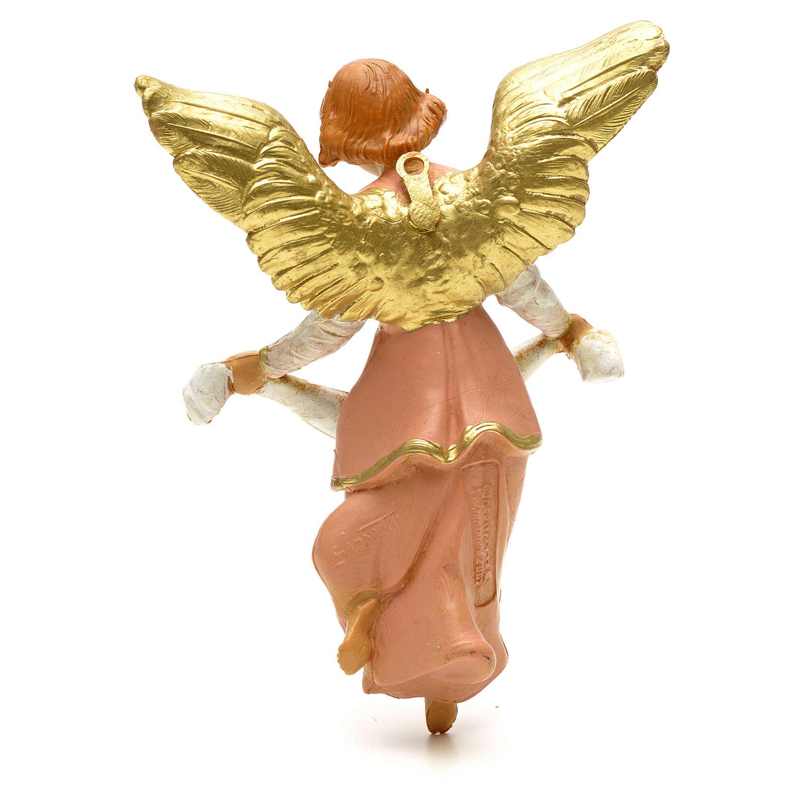 Anjo Glória cor-de-rosa para Presépio Fontanini com figuras de altura média 12 cm 3