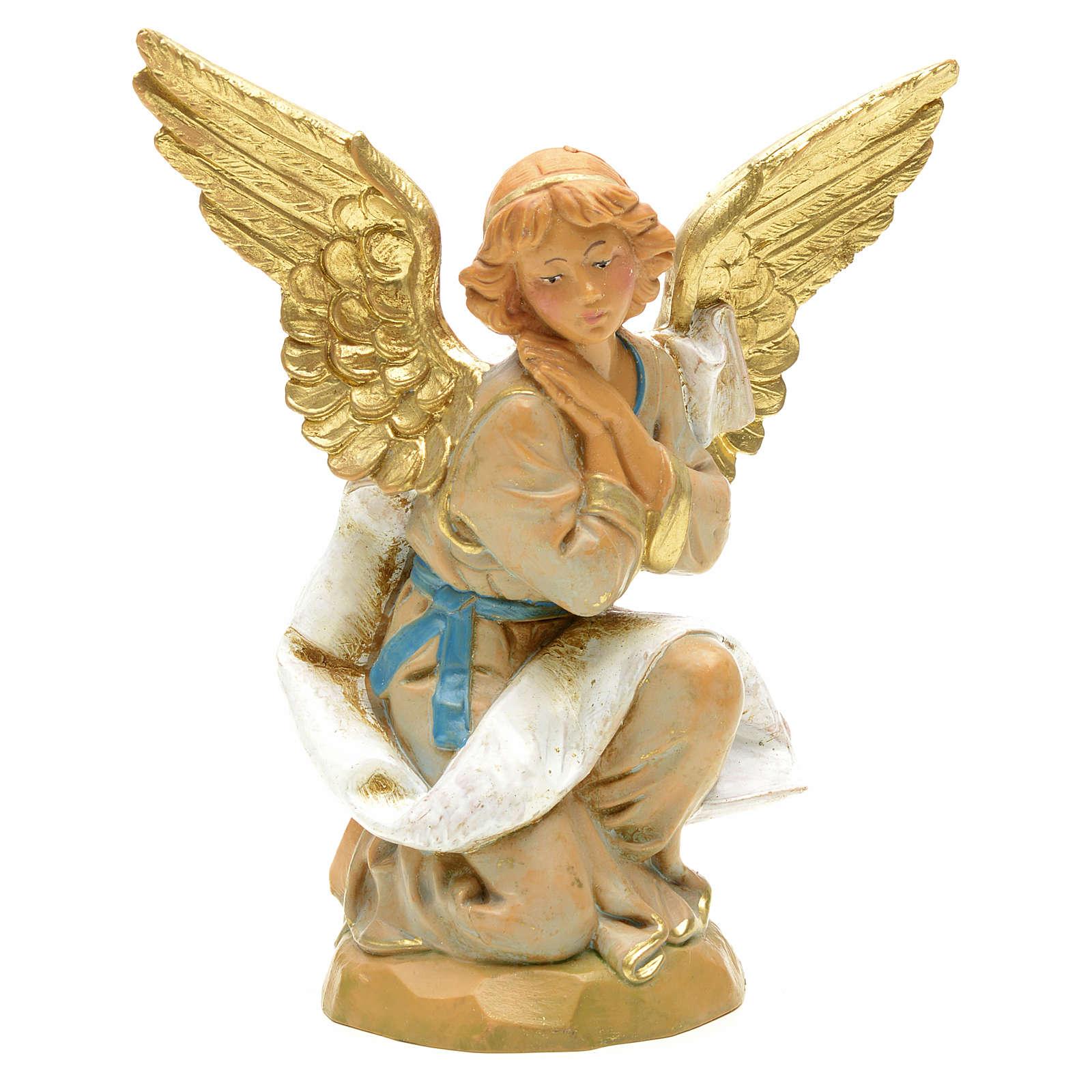 Anjo ajoelhado para Presépio Fontanini com figuras de altura média 12 cm 4