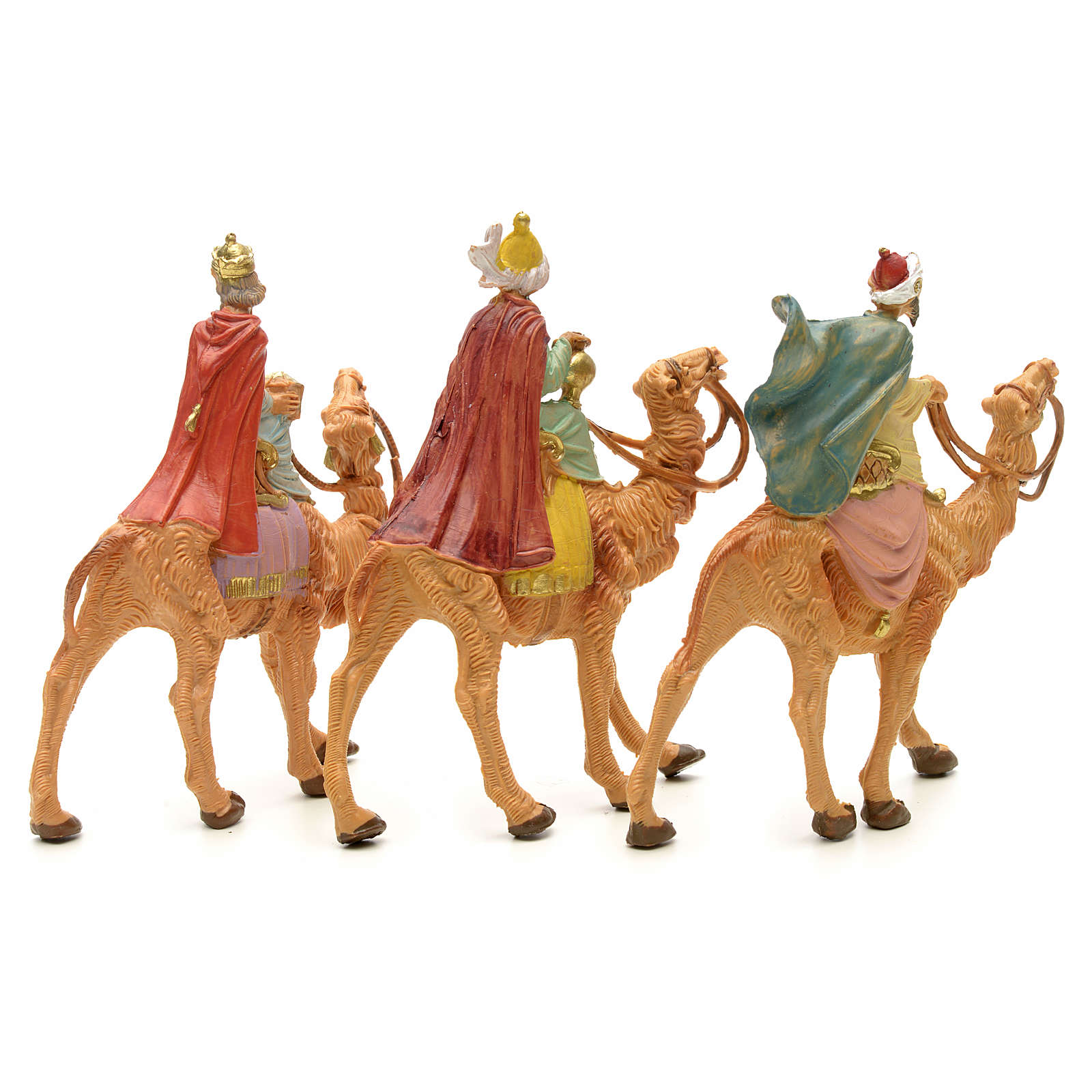 Tres Reyes Magos en camello 6,5 cm Fontanini 4