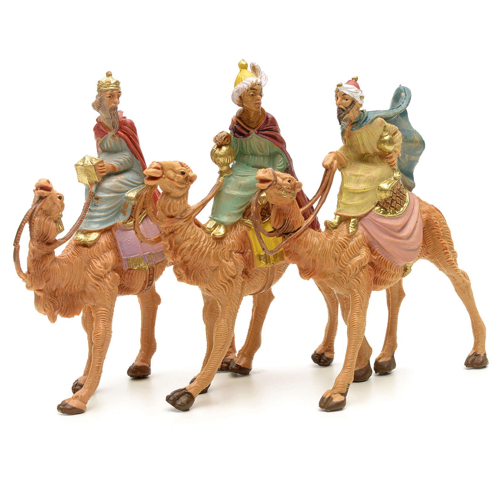 Trzej Królowie Mędrcy na wielbłądach Fontanini 6.5 cm 4