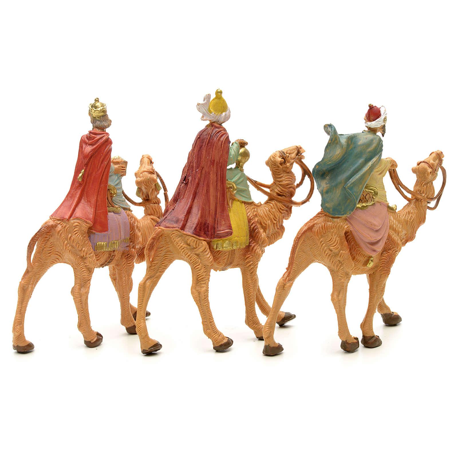 Três Reis Magos e camelo para Presépio Fontanini com figuras de altura média 6,5 cm 4