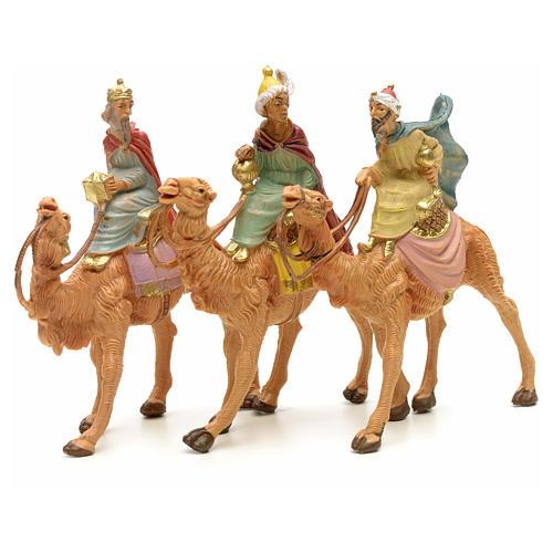 Três Reis Magos e camelo para Presépio Fontanini com figuras de altura média 6,5 cm 1