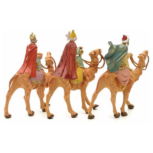 Três Reis Magos e camelo para Presépio Fontanini com figuras de altura média 6,5 cm 2