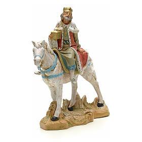 Rey mago blanco a caballo cm 18 Fontanini s4