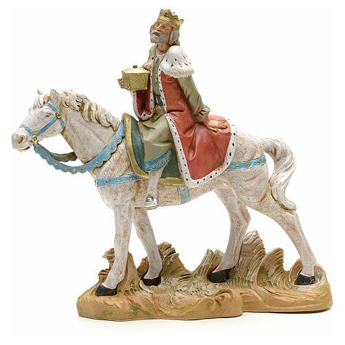 Rey mago blanco a caballo cm 18 Fontanini 1