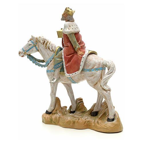 Rey mago blanco a caballo cm 18 Fontanini 2