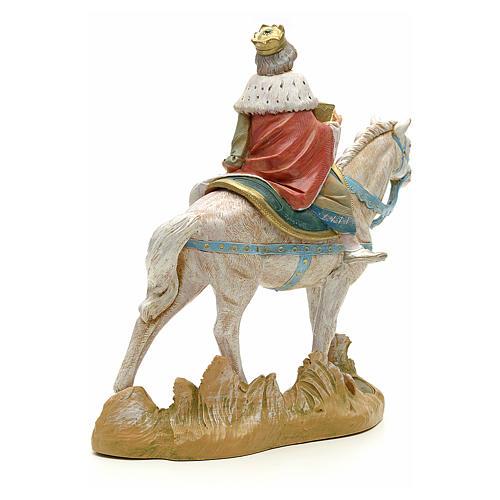 Rey mago blanco a caballo cm 18 Fontanini 3