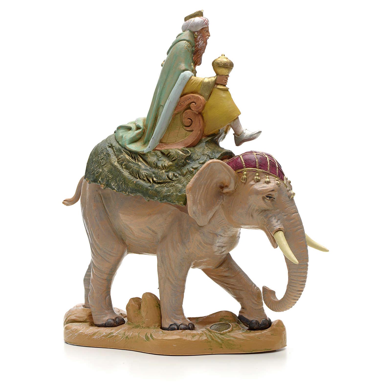 Re Magio bianco su elefante 19 cm Fontanini 3