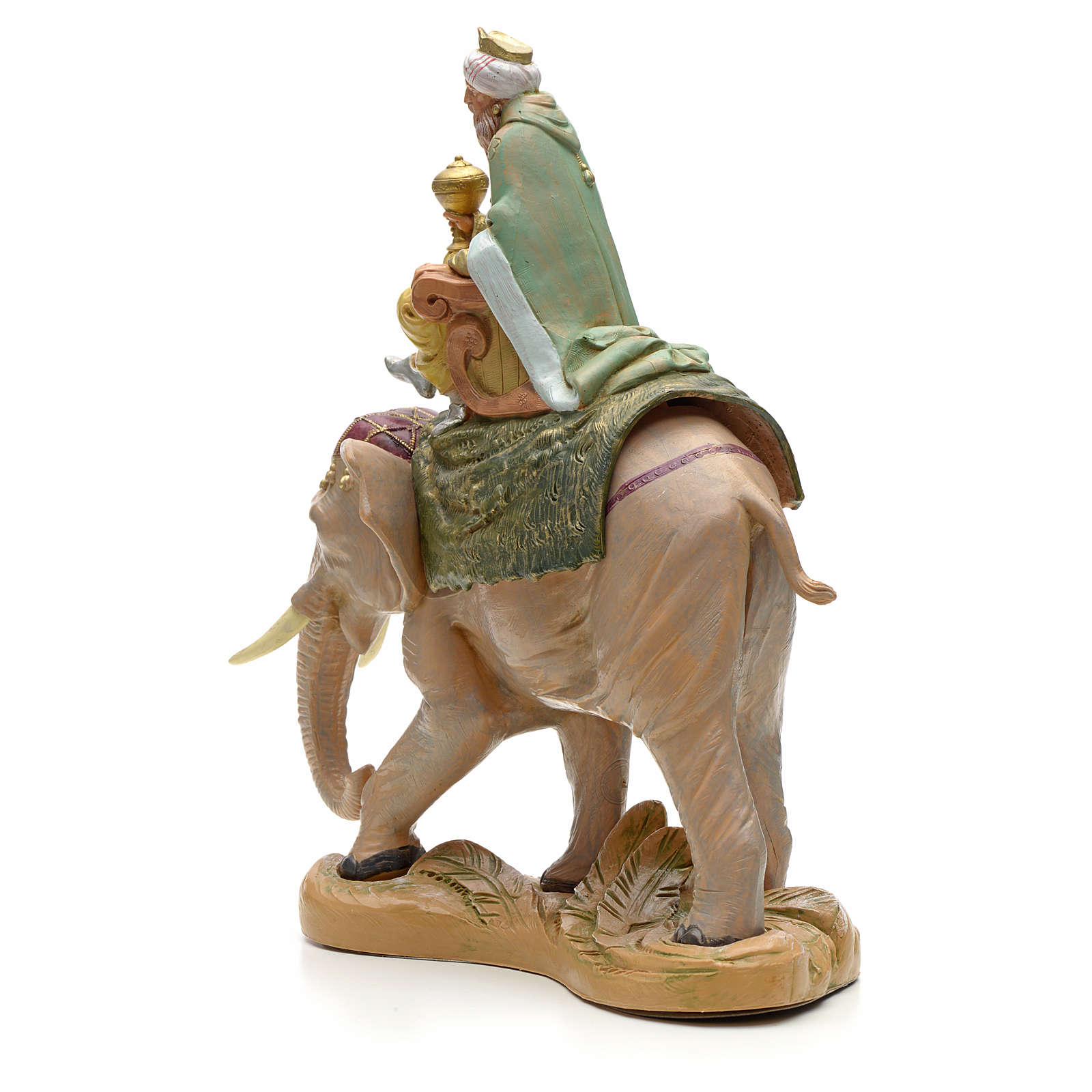 Re Magio bianco su elefante 19 cm Fontanini 4