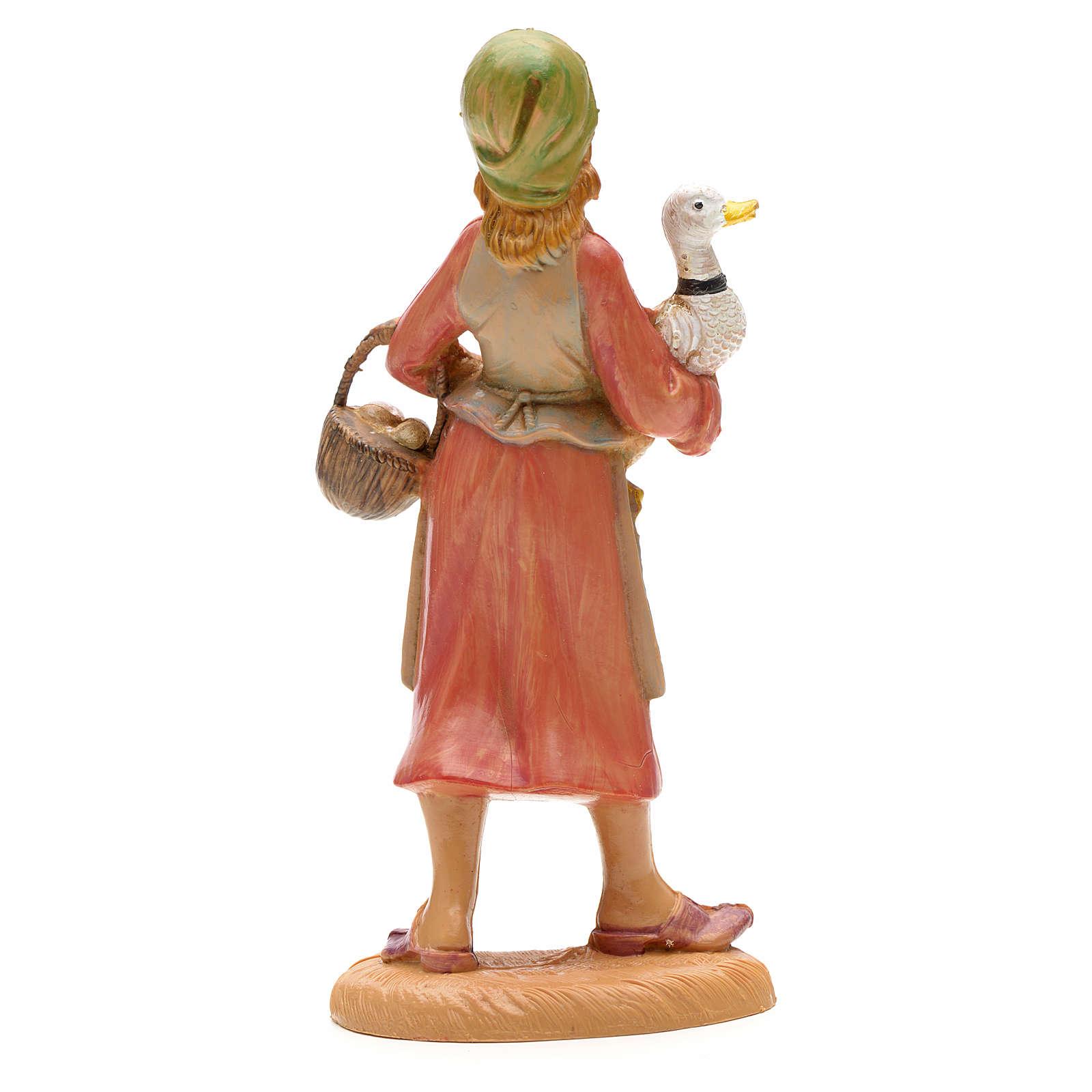 Pastora con ganzo en mano 12 cm Fontanini 3