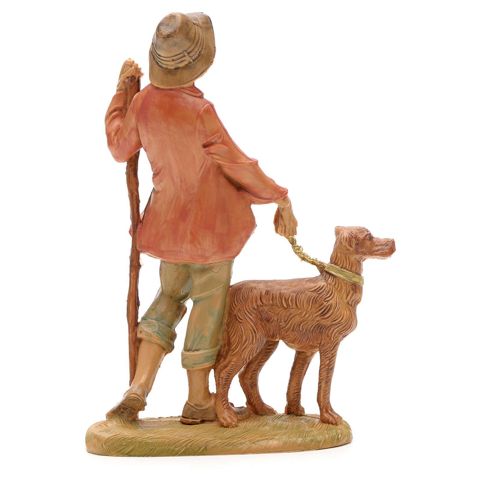 Krippenfigur Schafshirte mit Hund Fontanini 12 cm 3
