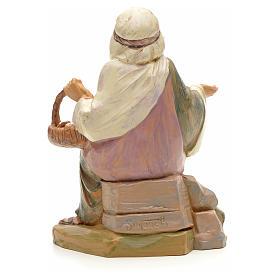 Pastor con cesta de huevo 12 cm Fontanini s2