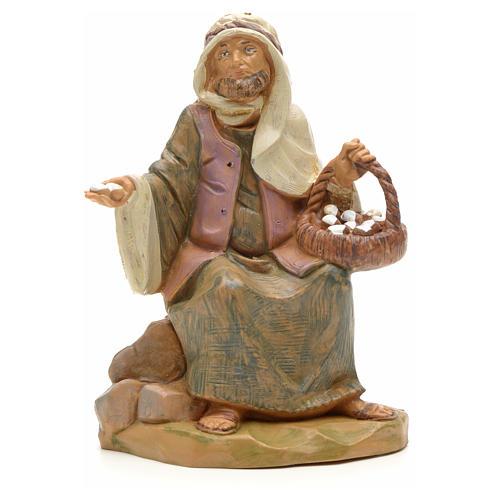 Pastor con cesta de huevo 12 cm Fontanini 1