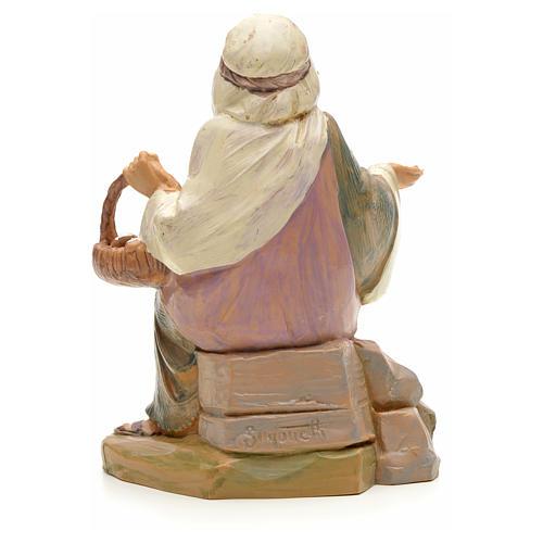 Pastor con cesta de huevo 12 cm Fontanini 2