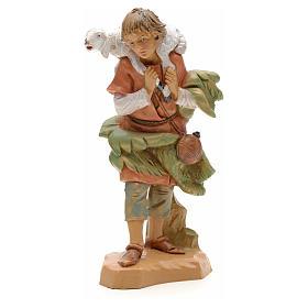 Figuras del Belén: Pastor con oveja sobre la espalda 12cm Fontanini