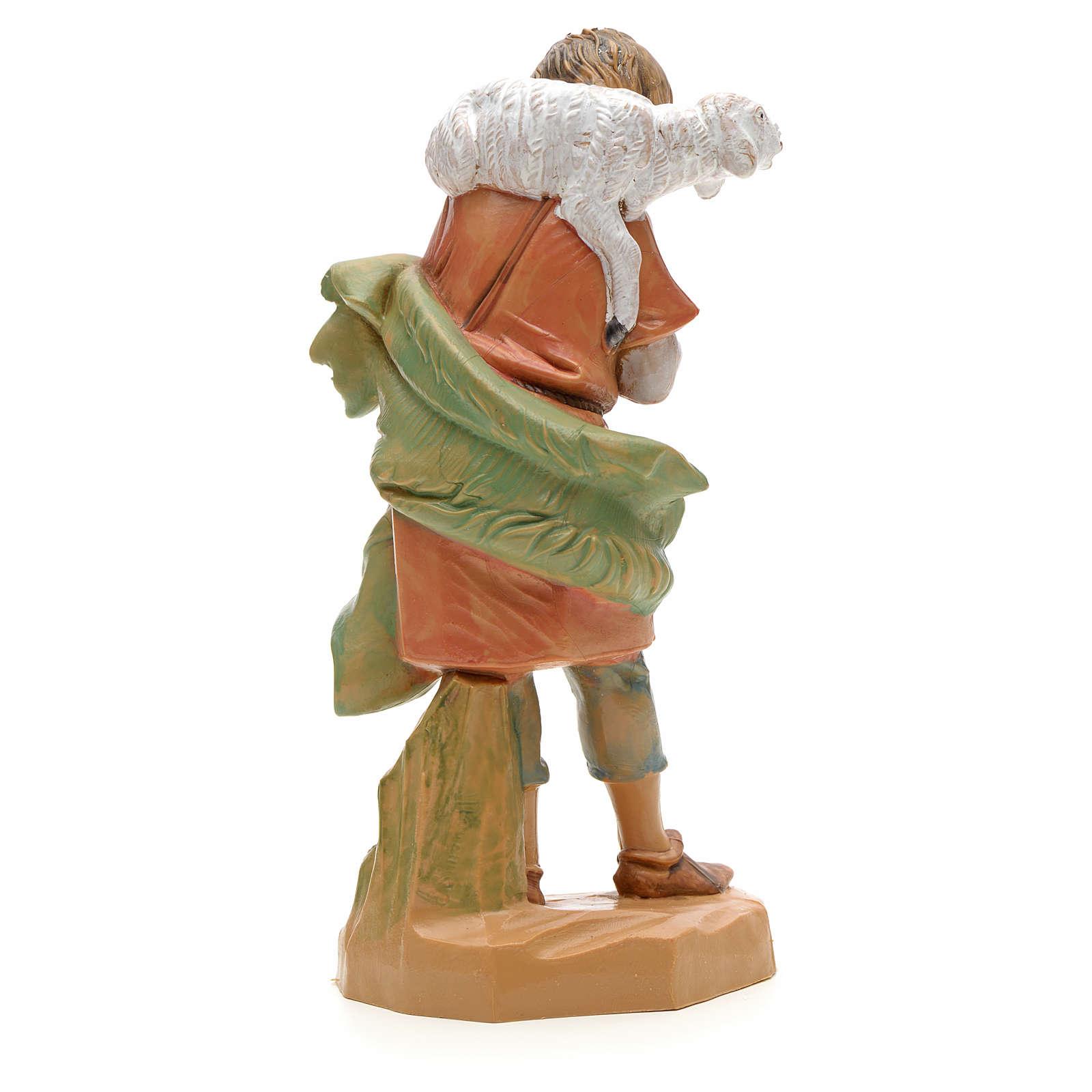 Pastor com ovelha nos ombros 12 cm Fontanini 4