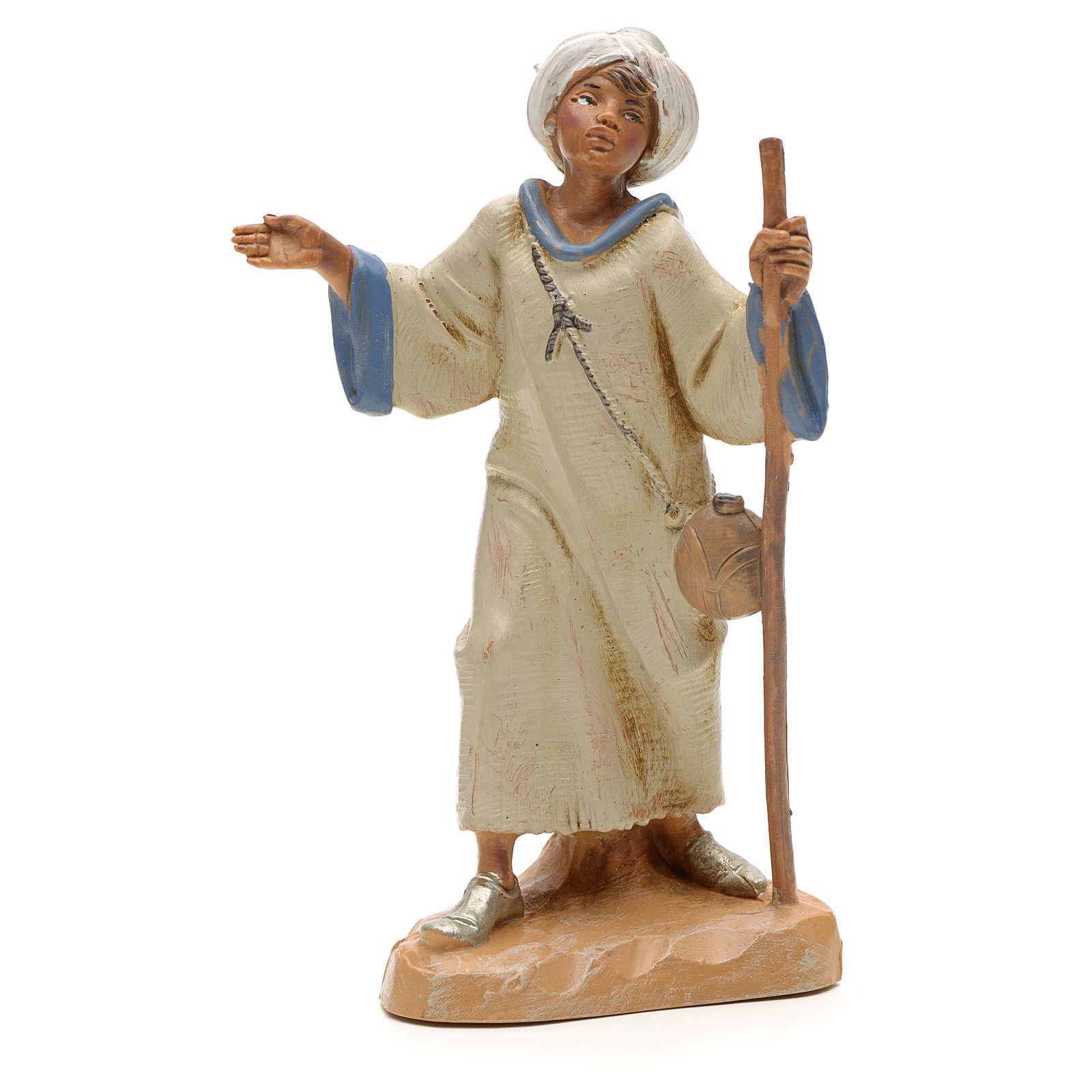 Figur Schafshirte mit Stock 12 cm Fontanini 3