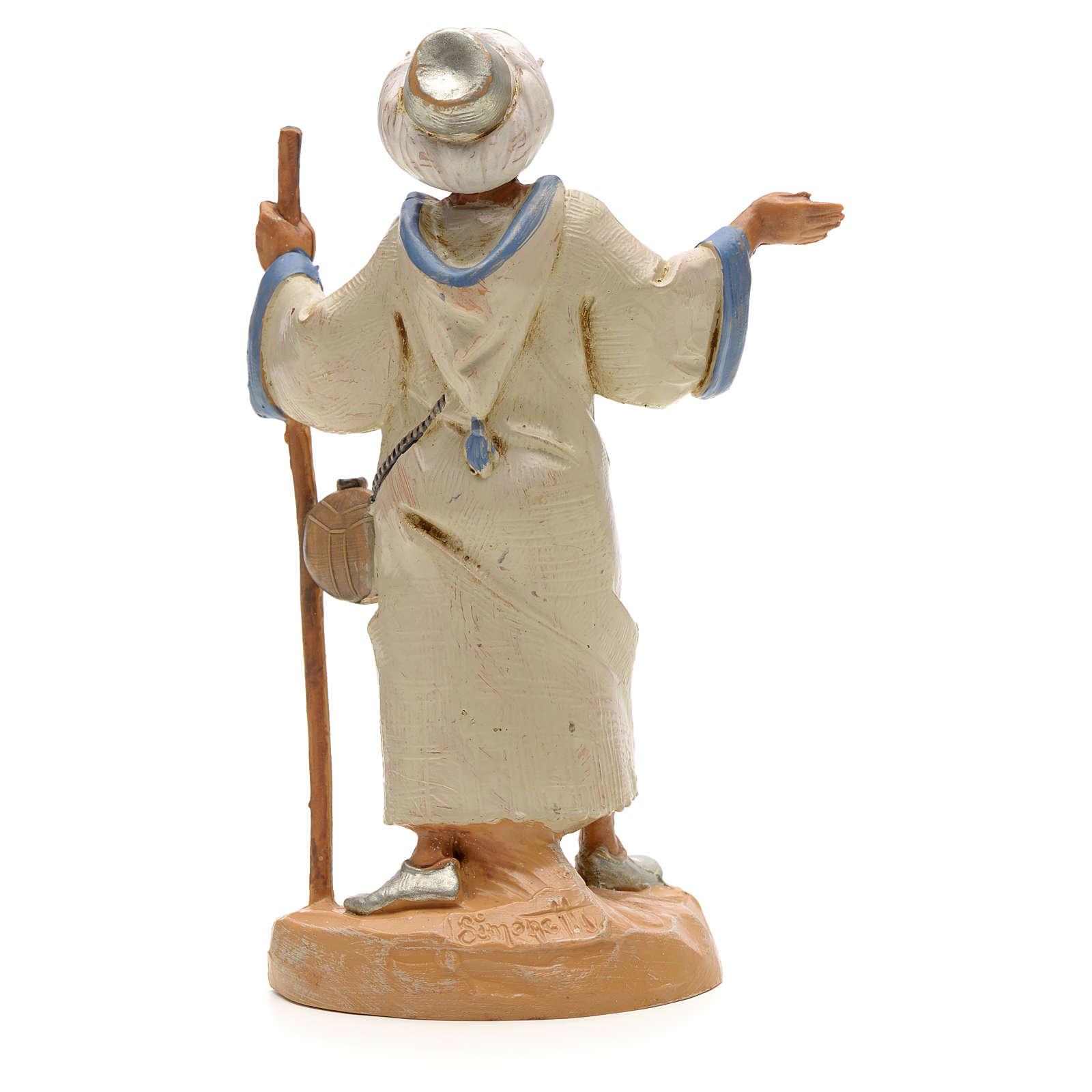 Berger avec bâton crèche Fontanini 12 cm 4