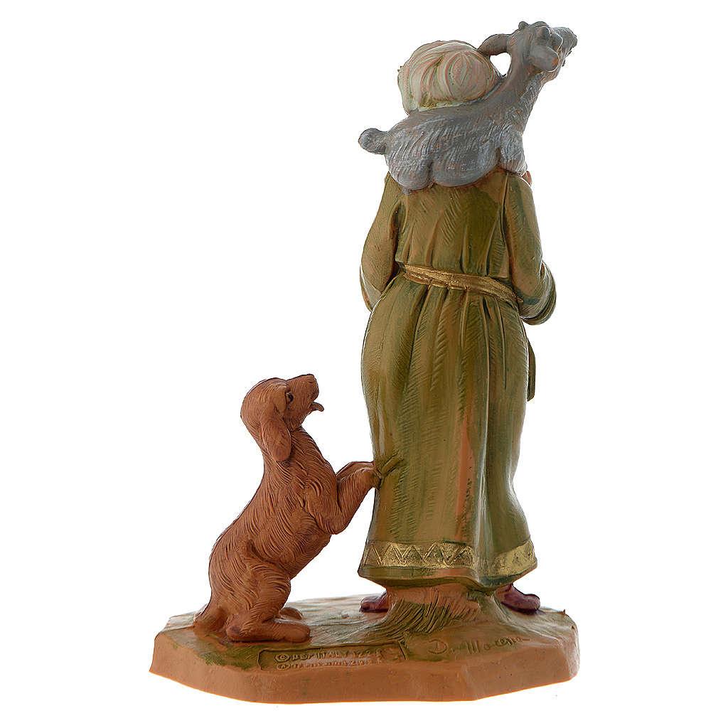 Pastor con cabra y perro 12 cm Fontanini 3