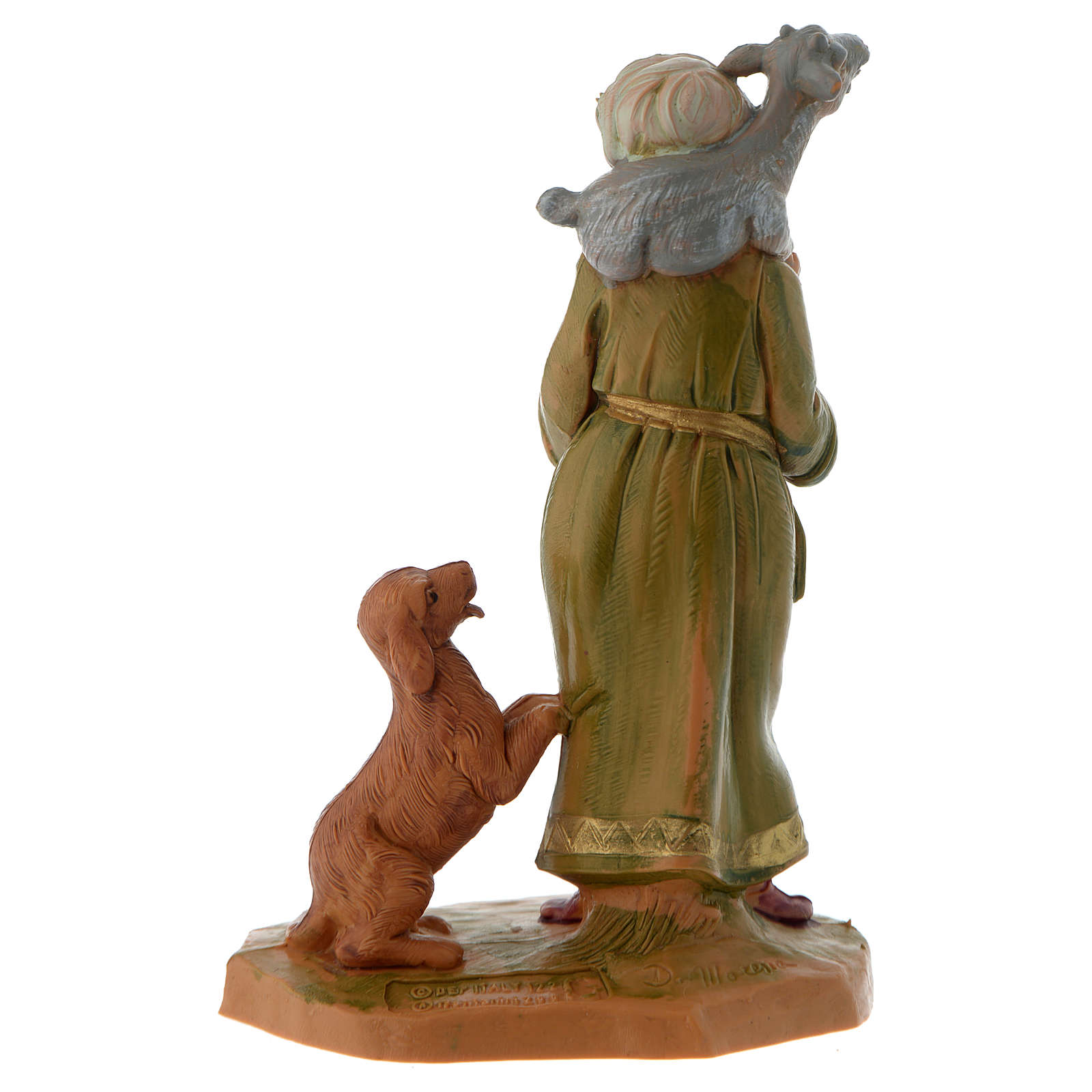 Pastor con cabra y perro 12 cm Fontanini 4