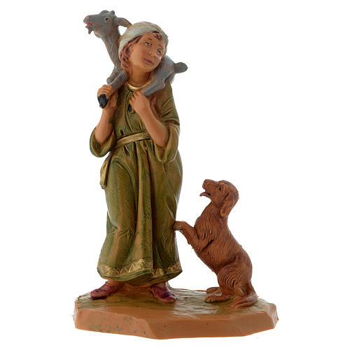 Pastor con cabra y perro 12 cm Fontanini 1