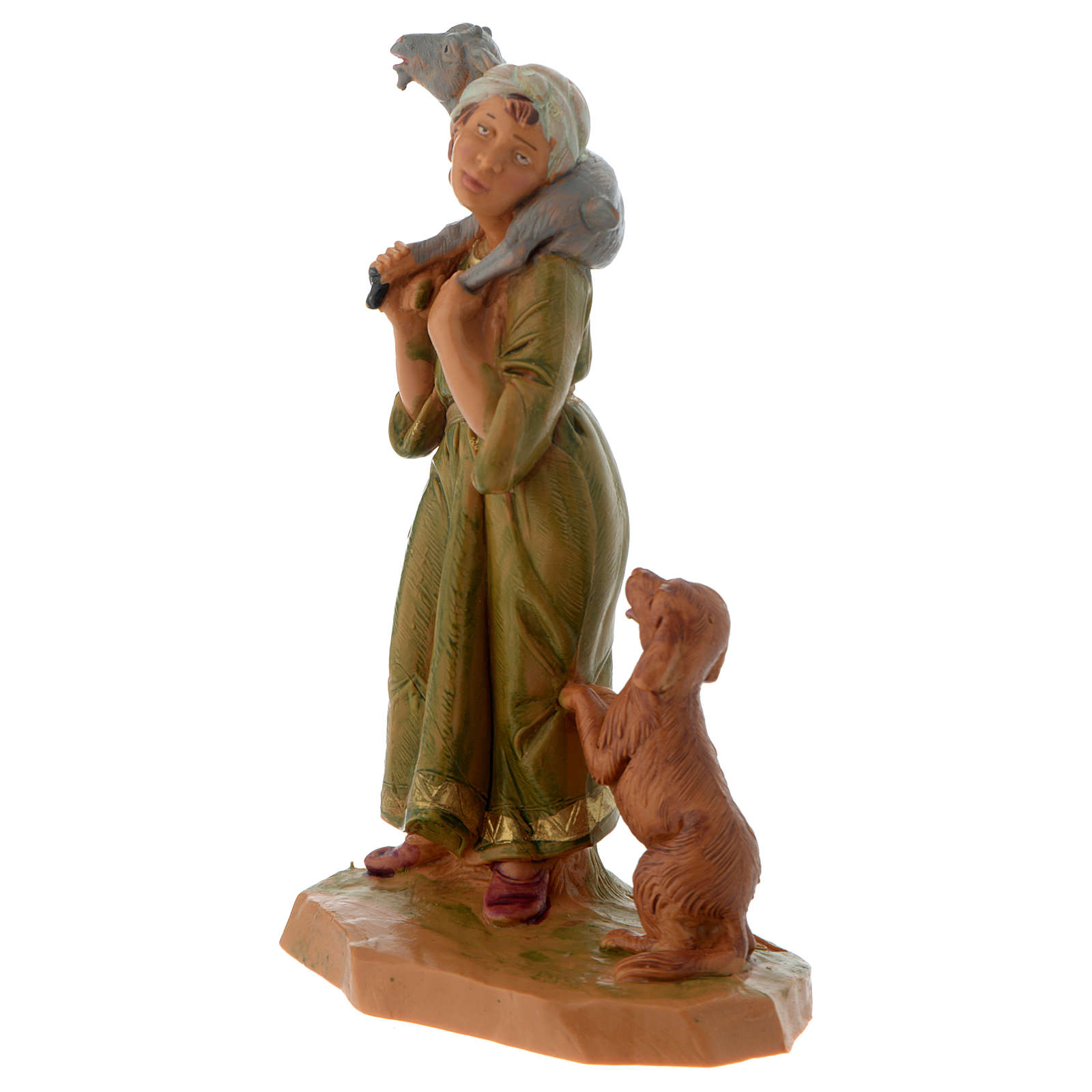 Pastore con capretta e cane 12 cm Fontanini 4