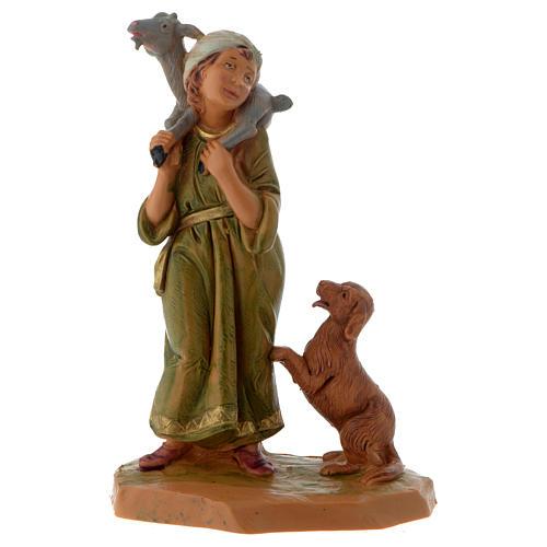 Pastore con capretta e cane 12 cm Fontanini 1