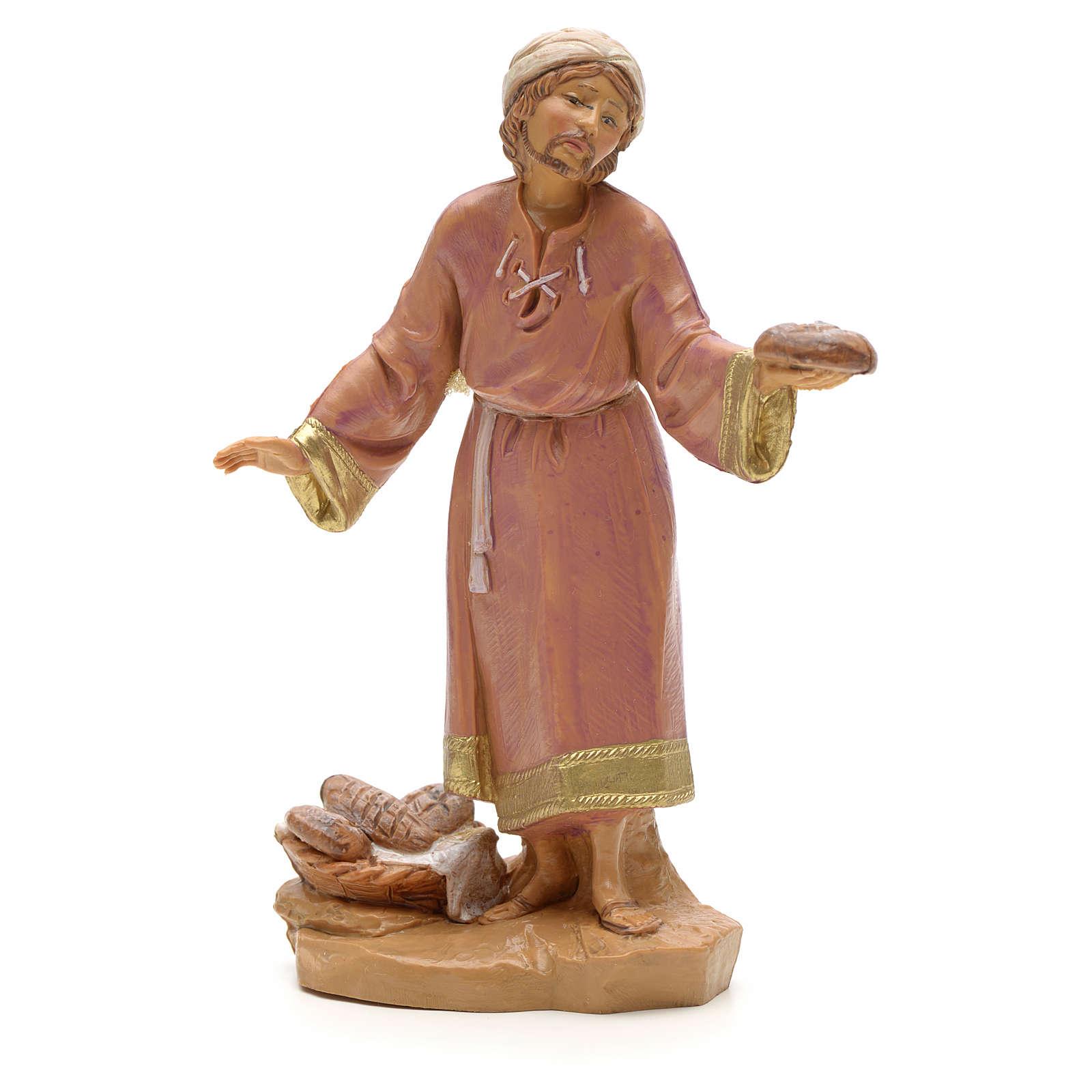 Pastore con pane 12 cm Fontanini 3