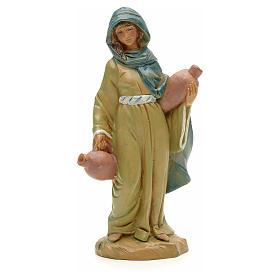Mädchen Figur, mit Amphoren, 12 cm Fontanini s3