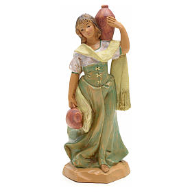 Mädchen Figur, mit Amphoren, 12 cm Fontanini s5