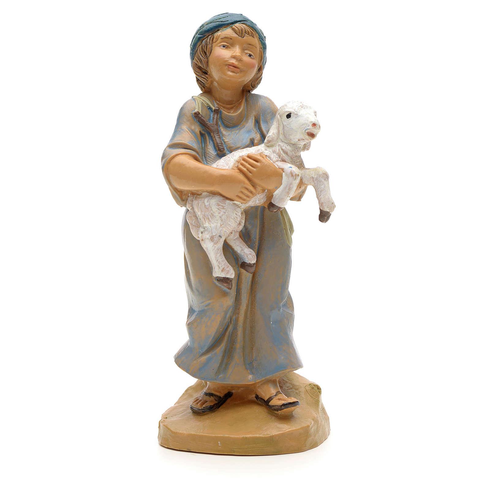 Ragazzo con agnello in braccio 12 cm Fontanini 3