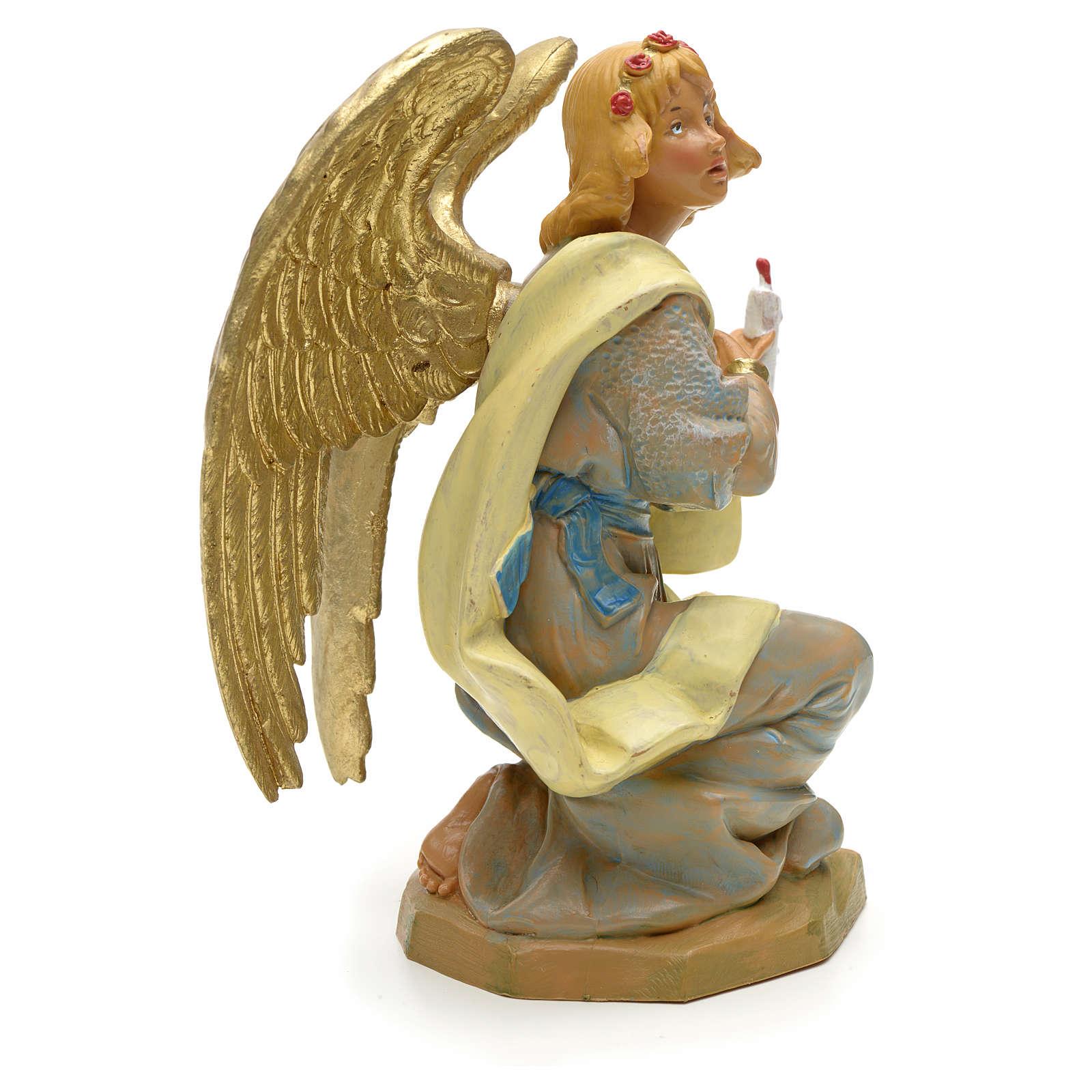 Ange à genoux crèche Fontanini 19 cm 4