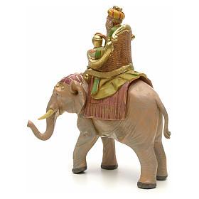 Figur Mulatte heiliger König auf Elefant 12 cm Fontanini s2