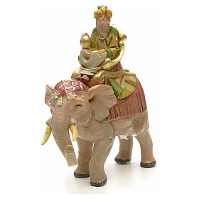 Rey mago mulato sobre elefante 12cm Fontanini s4