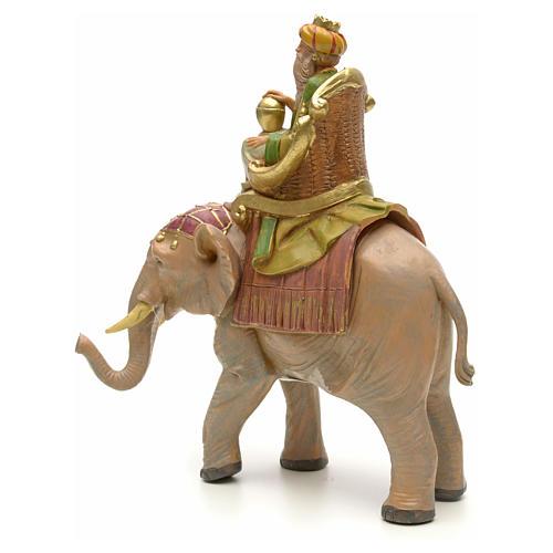 Król Mędrzec mulat na słoniu Fontanini 12 cm 2