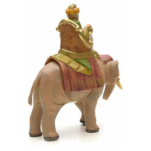 Król Mędrzec mulat na słoniu Fontanini 12 cm 3