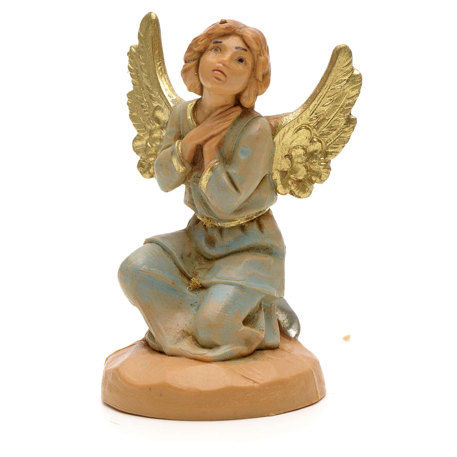 Anjo em adoração para Presépio Fontanini com figuras de altura média 6,5 cm 3