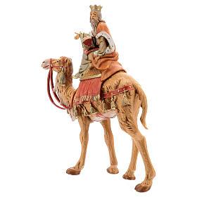 Roi Mage blanc sur chameau crèche Fontanini 19 cm s3