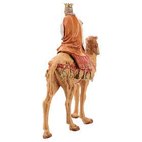 Roi Mage blanc sur chameau crèche Fontanini 19 cm s5