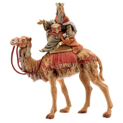 Roi Mage blanc sur chameau crèche Fontanini 19 cm 1