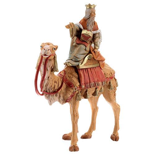 Roi Mage blanc sur chameau crèche Fontanini 19 cm 4