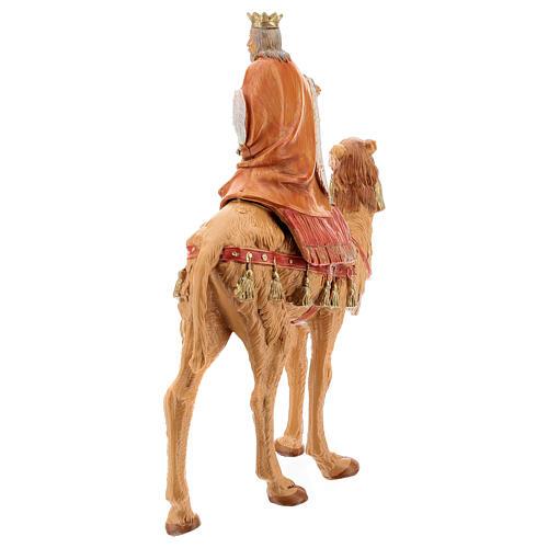 Roi Mage blanc sur chameau crèche Fontanini 19 cm 5