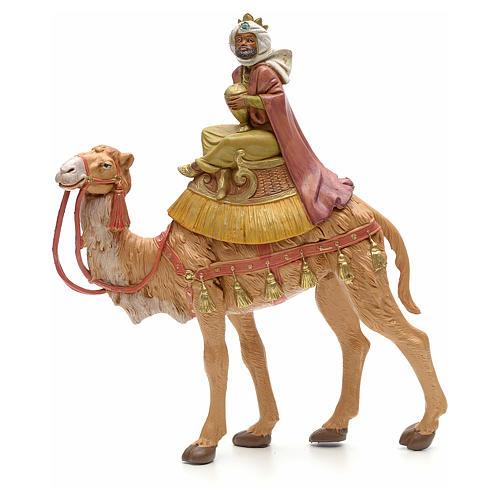 Rey mago moreno sobre camello 19cm Fontanini 1