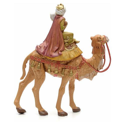 Rey mago moreno sobre camello 19cm Fontanini 2