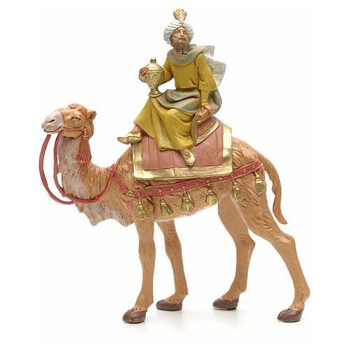 Roi Mage mulâtre sur chameau crèche Fontanini 19 cm 1