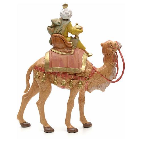 Roi Mage mulâtre sur chameau crèche Fontanini 19 cm 2