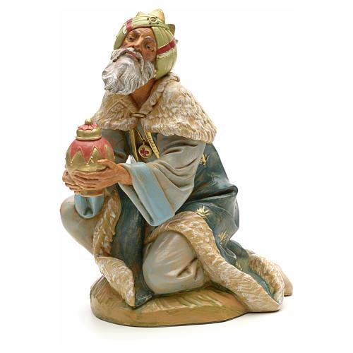 Re magio mulatto in ginocchio 30 cm Fontanini 1