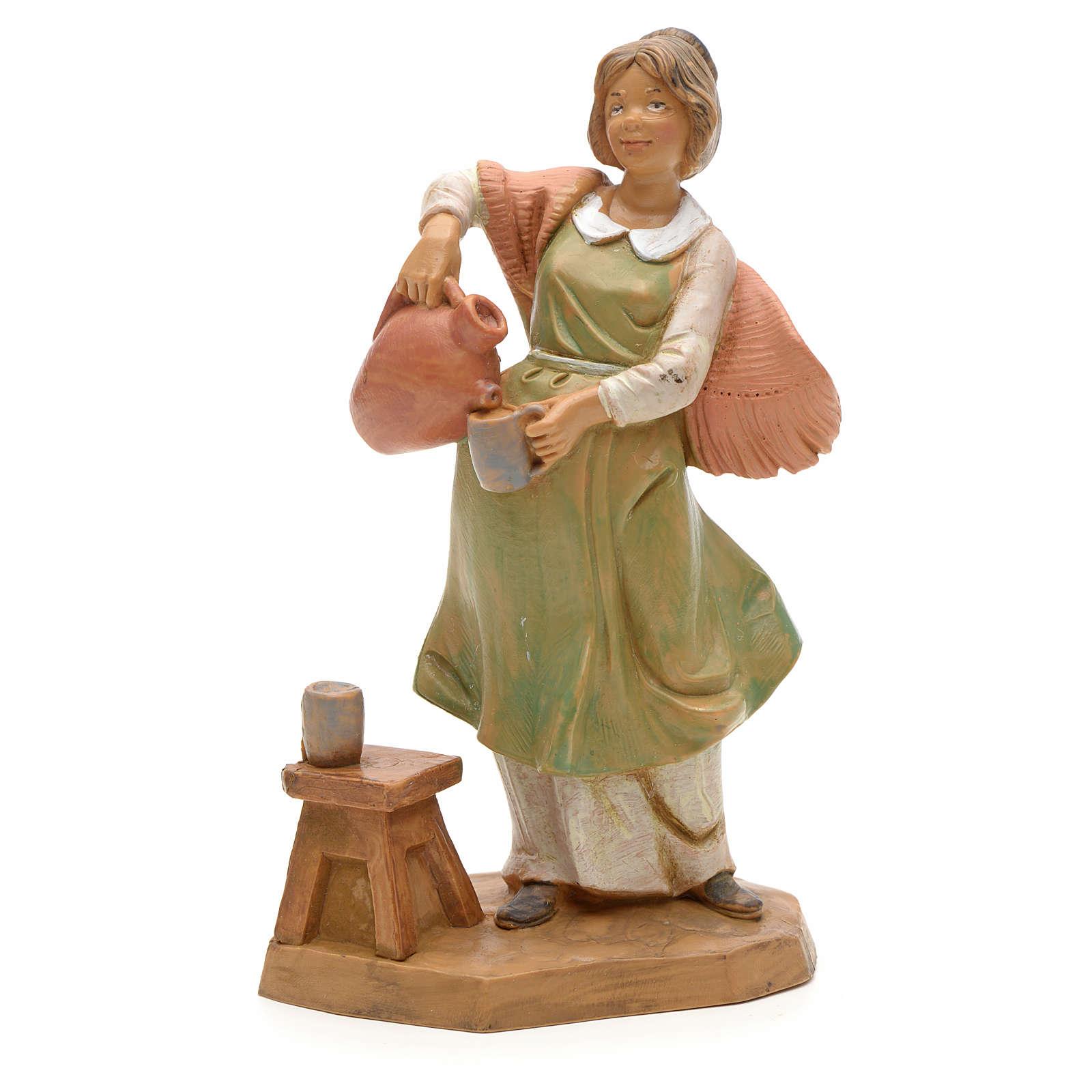 Pastora con jarrón 12 cm Fontanini 3